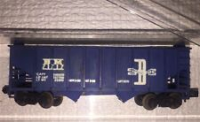 VINTAGE ATLAS Hooper TRAIN CAR, blue plastic ORIGINAL collectible