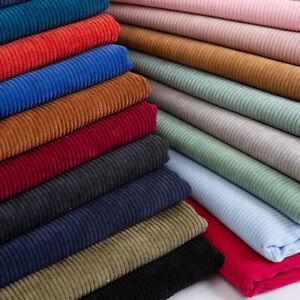8 Wales Corduroy Fabric Plain Thick Coat Pants Sewing Materials Crafts By Metre