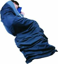 Trekmates Polyester/Cot Sleeping Bag Liner Mummy Navy One Size