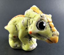 Collectible resinart resin art Yellow Baby Dragon miniature hand painted Italy
