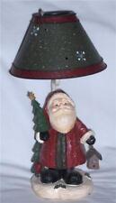 HOLIDAY SANTA CLAUS CANDLE VOTIVE LAMP METAL SHADE