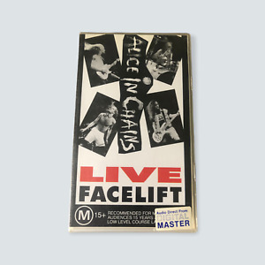 Alice in Chains: Facelift Live VHS - 1991/GC/PAL/Hard Rock/Metal/Free Post 🐙
