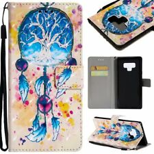colorful Dreamcatcher 3D wallet Leather case strap for iphone X Samsung S9 S8 LG