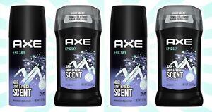 4 AXE Epic Sky Body Spray 4 OZ & Deodorant Stick Fresh Scent 3 OZ 48H