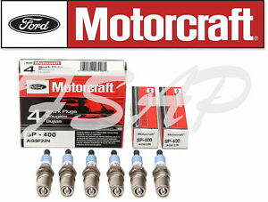 Set of 6 Original Motorcraft Spark Plug SP400 - Nickel