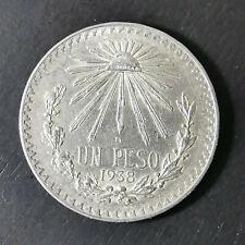 1938 Mexico 1 Un Peso Independencia Y Libertad 12 Grams 720 Fine Cap and Rays