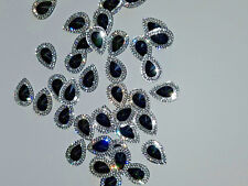 BLACK & Clear Sew sul gioiello 18mm Gemma Cristallo Strass Perline Trim