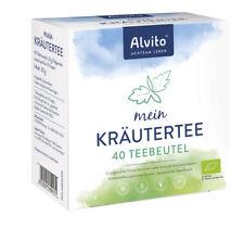 Alvito -Mein KräuterTee: Teebeutel bio - 40 Btl. (1,86 EUR/100 g) + wählb. Probe