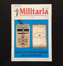 MILITARIA Vol. 1, No. 3, Edited by Klaus Patzwall - WWI & WWII Military Awards