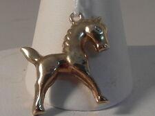 694F LADIES 9CT GOLD HORSE PENDANT/CHARM