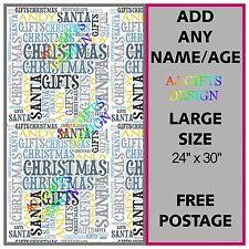 Personalizzata Natale Regalo Wrap Word Art Stile B