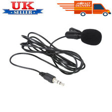 3.5mm Jack Clip-on Lapel Mini Lavalier Microphone Mic For IPhone SmartPhone UK #