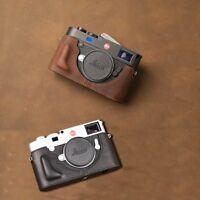 Genuine Leather Handmade Camera Case Bag Half Body Bottom Cover For Leica M10