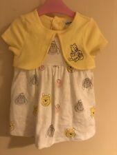 disney baby girl 3-6 months Dress Winnie The Poo Yellow