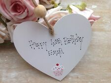 Personalised Birthday Wooden Heart 13th 16th 18th 21st 30th 40th Gift Present