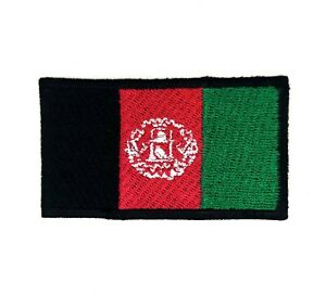 Afghanistan National Country Flag Iron Sew on Embroidered Patch