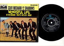 CLIFF RICHARD & THE SHADOWS.WONDERFUL LIFE.UK ORIG EP & PIC/SL.EX/EX