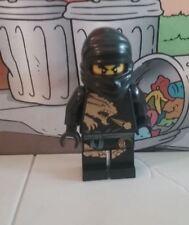 Ninjago lego mini figure BLACK NINJA COLE DRAGON SUIT 2170 2509 2520 vgc