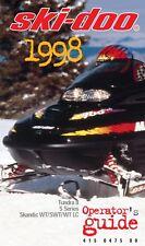 Ski-Doo 1998 Formula 500 583 670 Formula Deluxe GT MX Z Printed Owners Manual