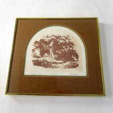 Pastoral par BRUCE Halcro-encadrée aquatinte imprimer-signé Limitied Edition 31/75