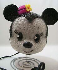 Eva Night Light Lamp Minnie Walt Disney Minnie Mouse  Pink Hat Yellow Flower New
