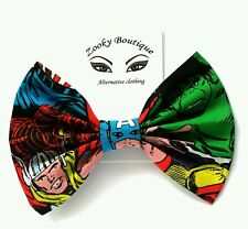 "6"" Marvel movie/comic Thor Hulk Captain America character hair bow clip Gift"