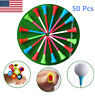 50 Pcs Plastic Golf Tees With Rubber Cushion Top 83 mm Multi Color High Quality