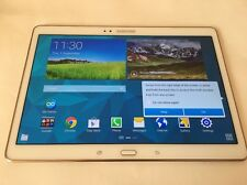 Samsung Galaxy Tab S SM-T805 16GB, Wi-Fi + 4G/LTE Unlocked-10.5in- White-GOOD