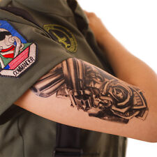2 x Guns Roses Dollar schwarz Fake temporäres einmal Körper Tattoo A1218 Sparset