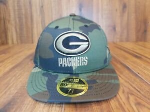 New Era Green Bay Packers NFL 59fifty Low Profile camo Fitted Cap Multiple Sizes
