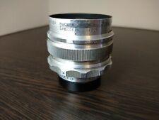 Vintage Lens MIR-1 f 2,8/37 silver USSR M39 Leica Slr Grand Prix Brussels 58s