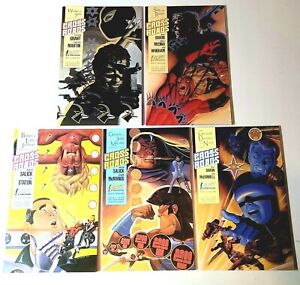 Cross Roads Comic Books 1-5 Complete Set 1988 First Publishing Boarded & Bagged