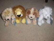 Lot 4 Ganz Lil' Kinz Cocker Spaniel White Poodle Lion Golden Retriever - Webkinz