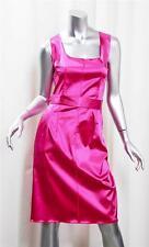 DOLCE & GABBANA Womens Hot Pink Satin Sleeveless Knee-Length Sheath Dress 44/8