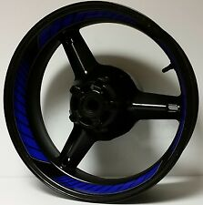 DARK BLUE FULL CUSTOM INNER RIM DECALS WHEEL STICKERS STRIPES TAPE GRAPHICS KIT