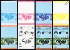1929 LAGONDA SPEED Touring Car Stamps (1984 Nevis Progressive Proofs / Auto 100)