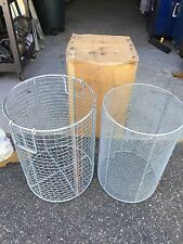 Military Mess Hall round wire utility basket zinc plated 2 pc.