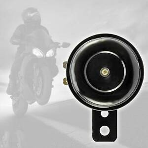 6v Loud Black Replacement Horn with Bracket 6 Volt Motorcycle Bike 105 db