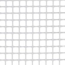 RETE PLASTICA BIANCO MAGLIA QUADRA 10x10MM RECINZIONE BORDI LISCI TAGLIO 1MT