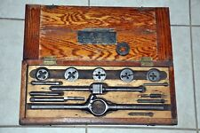 Vintage Antique American TAP AND DIE SET AM. T & D, Wooden Case
