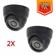 2x 1200TVL HD 3.6mm Lens Dome Surveillance CCTV Security Camera IR Night VisiUB