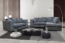New Casper Fabric Sofa in Grey Corner sofa and 3+2 seater+Swivel Chair sofa