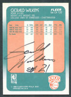 Gerald Wilkins #84 signed autograph auto 1988-89 Fleer Basketball Trading Card