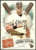 Frank Thomas 2019 Allen and Ginter Ginter Greats 5x7 #GG-45 /49 White Sox
