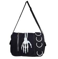 Living Dead Gothic Psycho Punk Souls - Schultertasche Skelett Hand schwarz