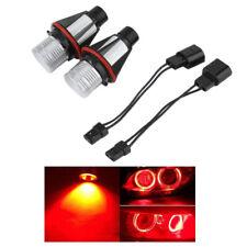 2pcs Red LED Angel Eyes Halo Ring Light Bulb Lamp DRL Fog Headlights Car 12V DC