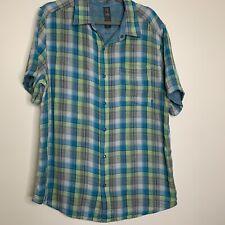Merrell Mens XL Button Front Shirt Casual Outdoor Hiking Short Sleeve