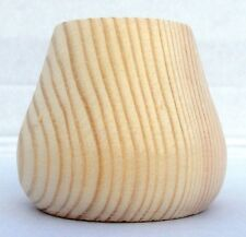 Pack of 4 small Wooden Pine Conical Bun Feet 66mm foot A3PCF