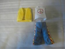 "NEW MINI AMERICAN GIRL JULIE HIPPIE OUTFIT NEW VERSION FOR ANY 6 1/2"" MINI DOLL"