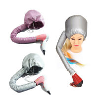 Portable Soft Hair Drying Cap Bonnet Hood Hat Blow Dryer Attachment Hair Salon~